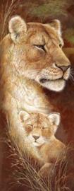 Diamond painting leeuwen (50x20cm)(full)