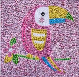 Diamond painting papegaai (15x15cm)