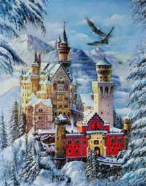 Diamond painting prachtig kasteel (80x60cm)(full)
