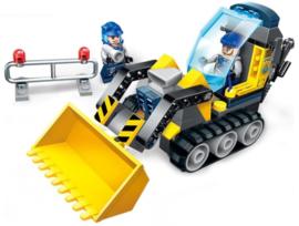 Diamond blocks (grote steentjes) bulldozer (114 blokjes)