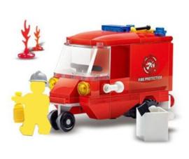 Diamond blocks brandweer auto