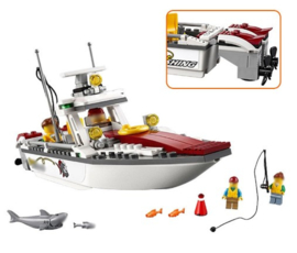 Diamond blocks boot met vissers (156 steentjes)