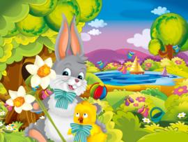 Diamond painting bunny (50x40cm)