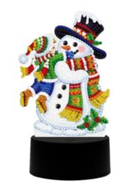 Diamond painting ledverlichting sneeuwpop (verschillende kleuren led)
