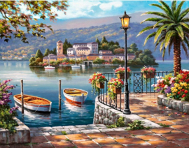 Diamond painting haven uitzicht (80x60cm)(full)