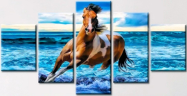 Diamond painting prachtig paard 5 luiken (2x15x20cm)(2x15x30cm)(1x15x35cm)(full)
