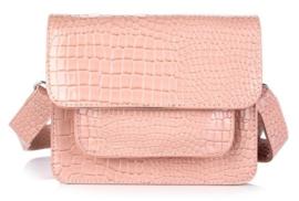 Schouder tas croco roze