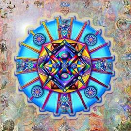 Diamond painting mandala blauw (40x40cm)(full)