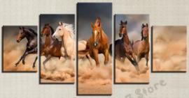 Diamond painting prachtige paarden (5 luiken)(2x15x20cm)(2x15x30cm)(1x15x35cm)(full)