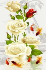 Diamond painting prachtige rozen (60x40cm)