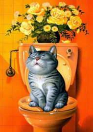 Diamond painting toilet poes (50x40cm)(full)