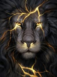 Diamond painting lightning lion (60x45cm)(full)