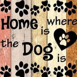 Diamond painting home / dog (50x50cm)(full)