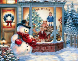 Diamond painting kerst winkel (80x60cm)(full)