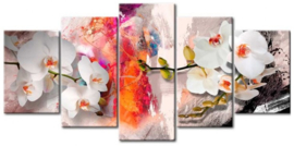 Diamond painting orchidee (5 luik)(2x15x23cm)(2x15x30)(1x15x38cm)(full)