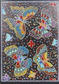 Diamond panting notitie boek veel vlinders
