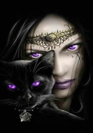 Diamond painting purple eyes (60x40cm)(full)
