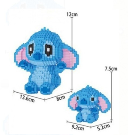 Diamond blocks Stitch met baby (1300 blokjes)