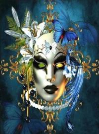Diamond painting het masker (60x45cm)(full)