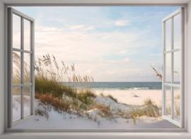 Diamond painting raam uitzicht (70x50cm)(full)