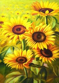Diamond painting prachtige zonnebloemen (50x35cm)(full)