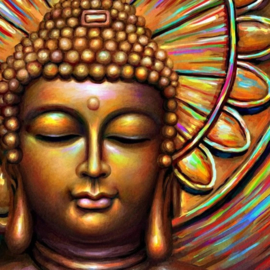 Diamond painting colour boeddha (50x50cm)(full)