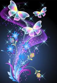 Diamond painting mooie vlinders (60x45cm)(full)