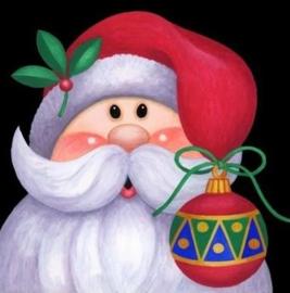 Diamond painting kerst man (40x40cm)(full)