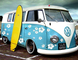 Diamond painting Volkswagen surfer (50x40cm)(full)