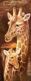 Diamond painting girafjes (75x30cm)(full)