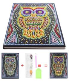 Diamond painting notitie boek (uil)