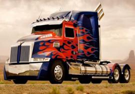 Diamond painting mooie vrachtwagen (60x40cm)(full)