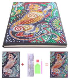 Diamond painting notitie boek Panter