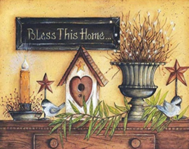 Diamond painting bless this home (60x45cm)(full)