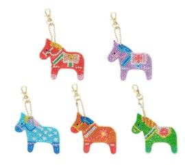 Diamond painting sleutelhangers paardjes (full)