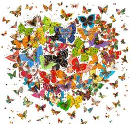 Diamond painting vlinder hart (50x50cm)(full)