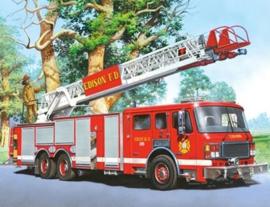 Diamond painting brandweer auto (60x45cm)(full)
