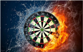 Diamond painting Let's play darts (70x50cm)(full)