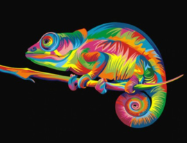 Diamond painting kameleon (50x40cm)(full)