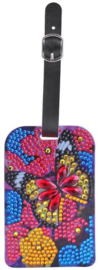 Diamond painting koffer labels (vlinder)