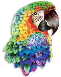 Houten puzzel 3D papegaai A4