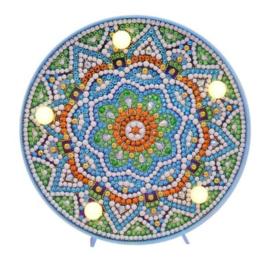 Diamond painting met ledverlichting mandala (15x15cm)