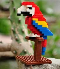 Diamond blocks papegaai (105 steentjes)