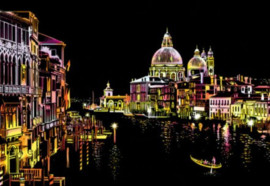 Scratch painting (Romantic Venice)