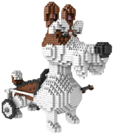 Diamond blocks rolstoel doggy (1800 blokjes)