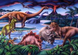 Diamond painting dinosaurussen (60x45cm)(full)