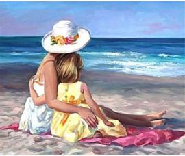 Diamond Painting aan het strand (60x45cm)(full)