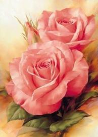 Diamond painting mooie rozen (45x30cm)(full)
