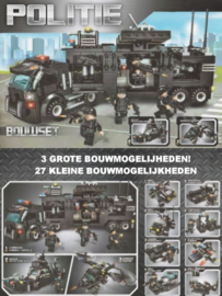 Diamond blocks politie met 3 SWAT teams (792 blokjes)