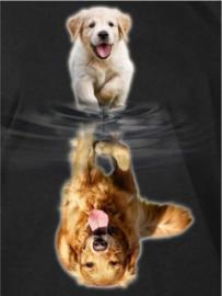 Diamond painting Puppy / Hond (80x60cm)(full)
